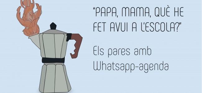 Els pares amb Whatsapp agenda