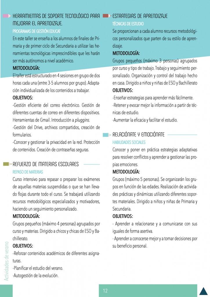 ACTIVIDADES DE VERANO 2017 BARCELONA-EDUCACIÓN-PSICOLOGÍA LOGOPEDIA 2