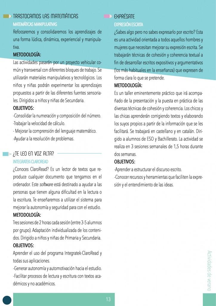 ACTIVIDADES DE VERANO 2017 BARCELONA-EDUCACIÓN-PSICOLOGÍA LOGOPEDIA 3